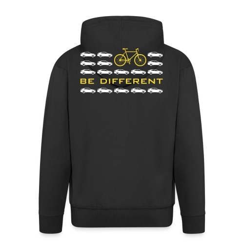 be different Auto Fahrrad Bike car anders einzig - Men's Premium Hooded Jacket