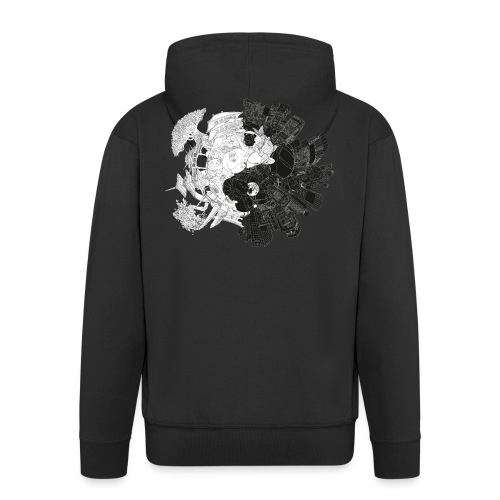New Yin Old Yang - Men's Premium Hooded Jacket
