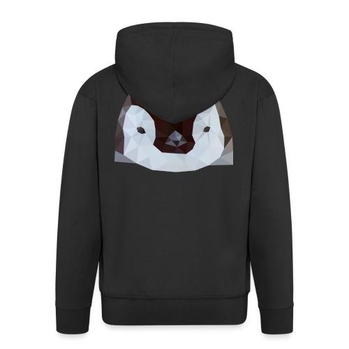 Pinguin Baby Polygon Art - Männer Premium Kapuzenjacke