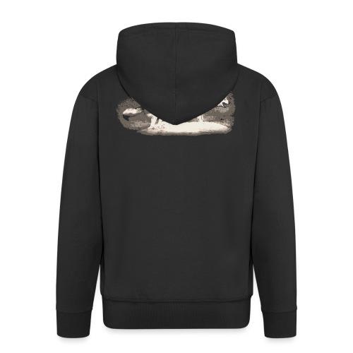 Wolf Loup Lupo Lobo - Men's Premium Hooded Jacket