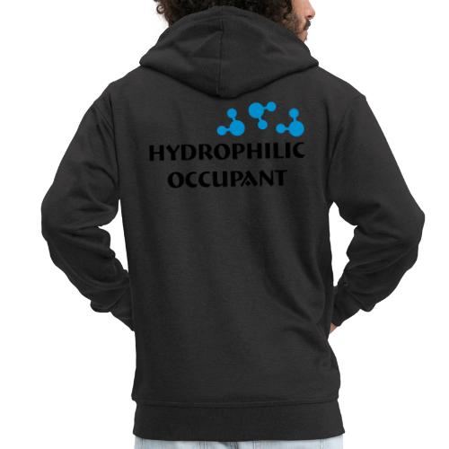 Hydrophilic Occupant (2 colour vector graphic) - Men's Premium Hooded Jacket