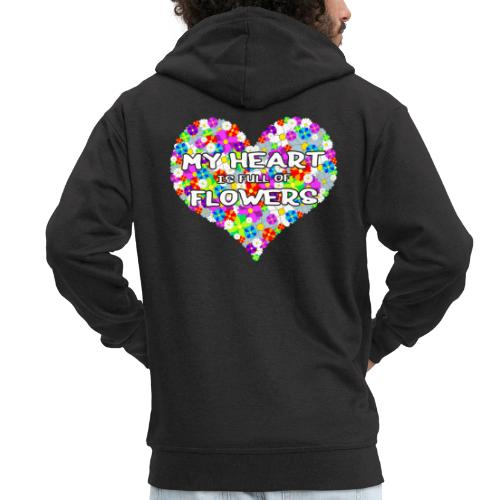 My Heart is full of Flowers - Männer Premium Kapuzenjacke