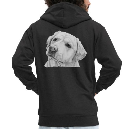 labrador retriever yellow - head - Herre premium hættejakke