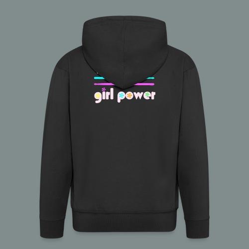 Drummer girlpower rose - Veste à capuche Premium Homme