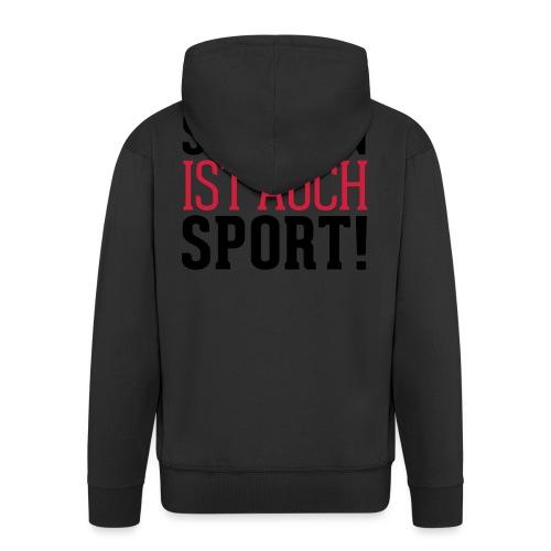 Shoppen ist auch Sport! - Männer Premium Kapuzenjacke