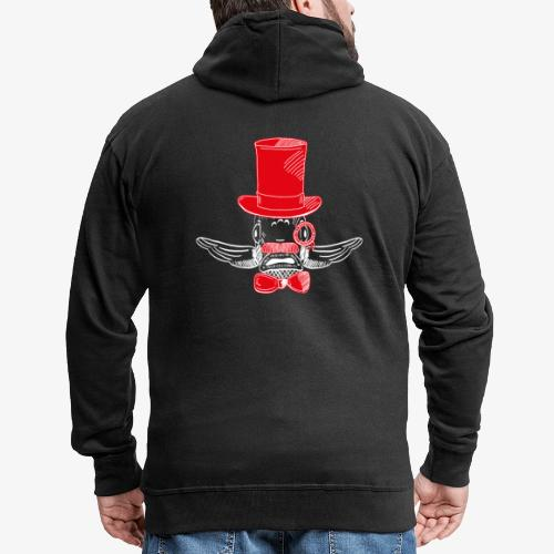 Elegant Hipster Fish - Mustache - Red - Männer Premium Kapuzenjacke