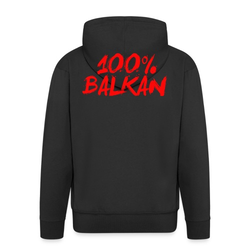 100% Balkan - Männer Premium Kapuzenjacke
