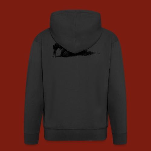 Splatter Zombie - Men's Premium Hooded Jacket