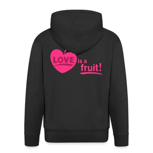 love_is_a_fruit_2c_225x225 - Männer Premium Kapuzenjacke