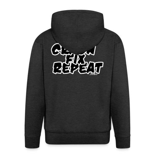 FlyCrashFixRepeat signed - Men's Premium Hooded Jacket