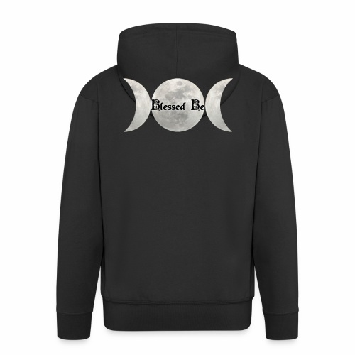 Triple Moon Blessings - Men's Premium Hooded Jacket