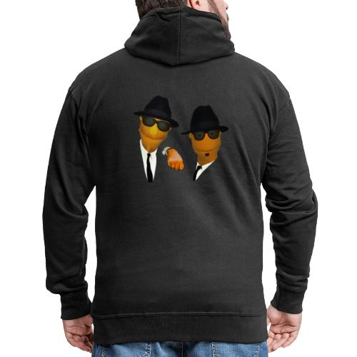 Pupazzi Blues Brothers - Felpa con zip Premium da uomo