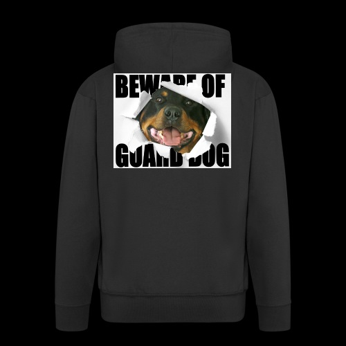 beware of guard dog - Men's Premium Hooded Jacket