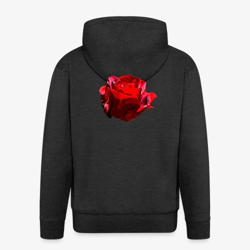 Red Rose - Männer Premium Kapuzenjacke