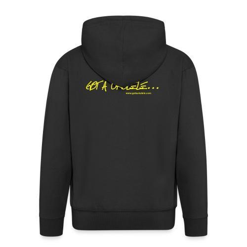 Official Got A Ukulele website t shirt design - Men's Premium Hooded Jacket