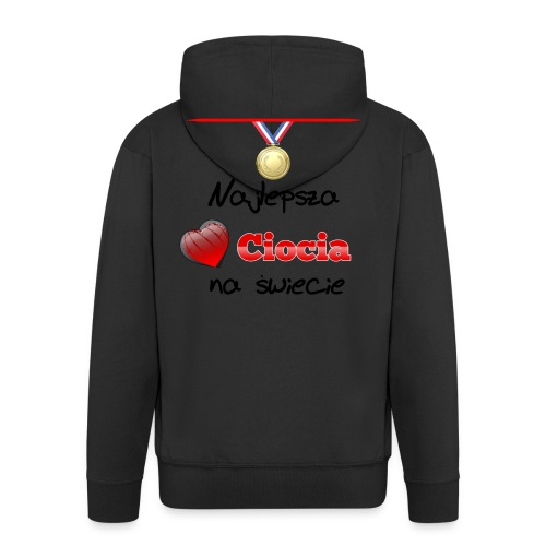 nadruk_rodzinne_05 - Rozpinana bluza męska z kapturem Premium