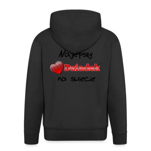 nadruk_rodzinne_01 - Rozpinana bluza męska z kapturem Premium