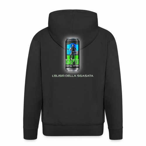 Nafta Energy Drink - Felpa con zip Premium da uomo