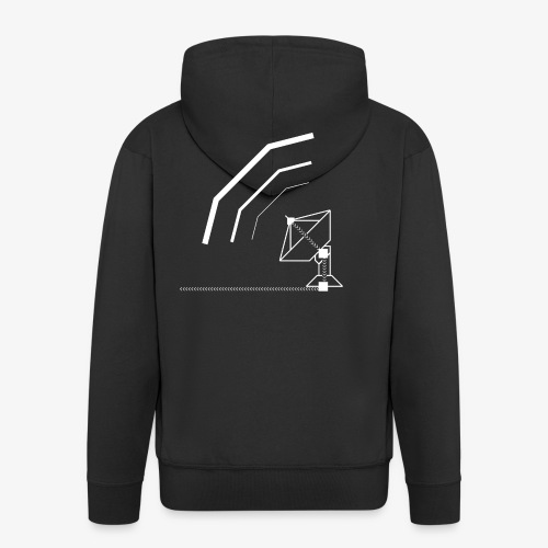 Calling All Broadcasts Satellite Dish T-shirt(Wome - Men's Premium Hooded Jacket