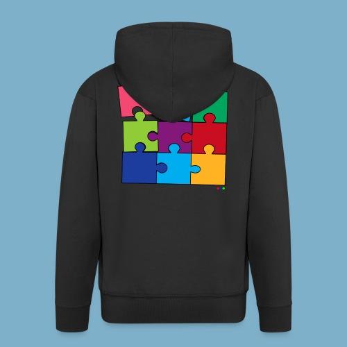 Puzzle Fun Motive - Männer Premium Kapuzenjacke