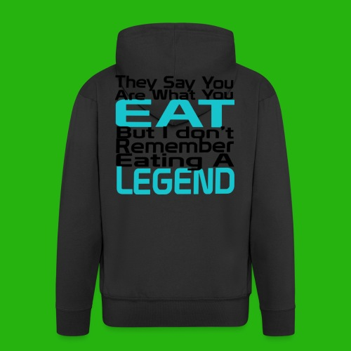 You Are What You Eat Shirt - Men's Premium Hooded Jacket