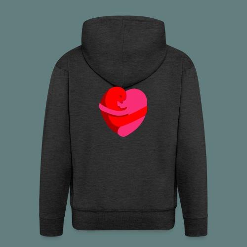 hearts hug - Felpa con zip Premium da uomo