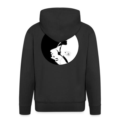 yang yin - Rozpinana bluza męska z kapturem Premium