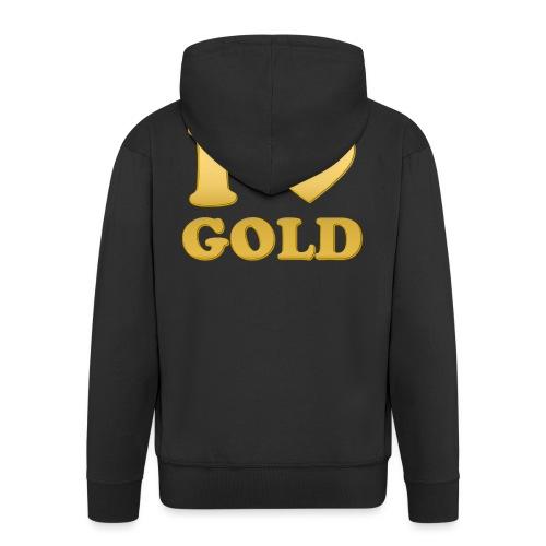 i love gold glanz b - Männer Premium Kapuzenjacke