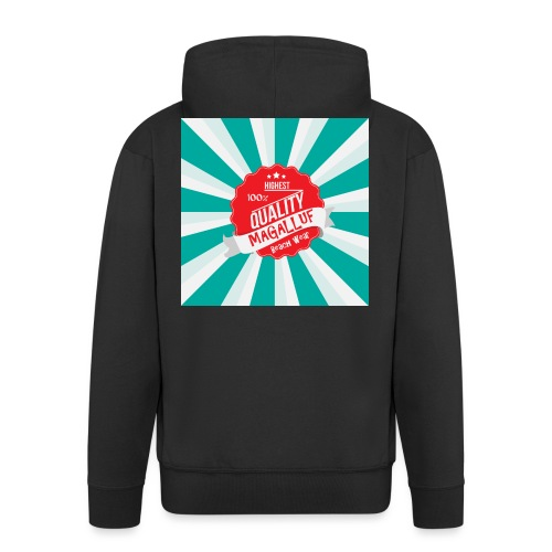 Magalluf-Badge - Men's Premium Hooded Jacket