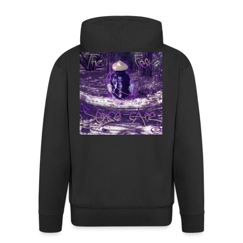 the first sense tape jpg - Men's Premium Hooded Jacket