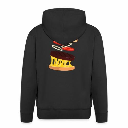 Hamburger Men - Men's Premium Hooded Jacket