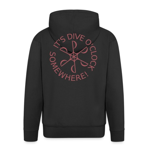 Dive o clock Dark Pink - Men's Premium Hooded Jacket