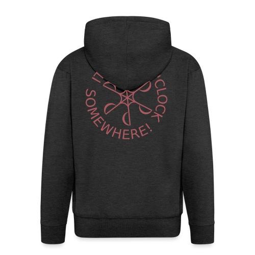 Dive o clock Dark Pink - Men's Premium Hooded Jacket