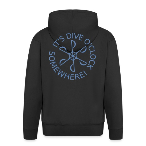 Dive o clock Light Blue - Men's Premium Hooded Jacket