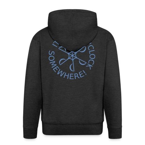 Dive o clock Light Blue - Men's Premium Hooded Jacket