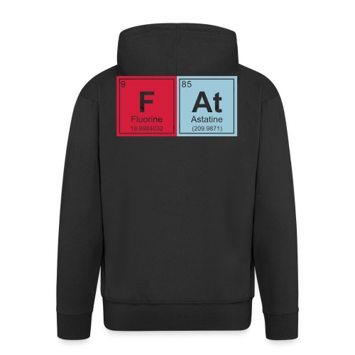 Geeky Fat Periodic Elements - Men's Premium Hooded Jacket