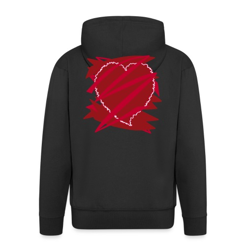 corazón enamorado, corazón roto - Chaqueta con capucha premium hombre