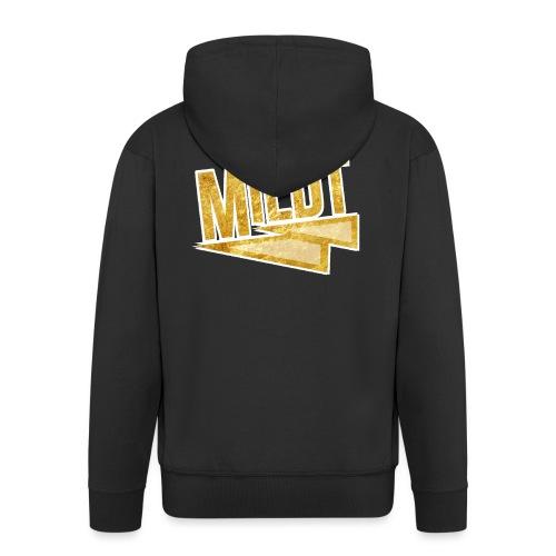 MILDT Gouden Vrouwen Shirt - Mannenjack Premium met capuchon