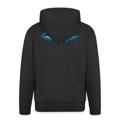 Moon Landscape t-shirt - Felpa con zip Premium da uomo