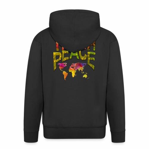 Teach Peace - Men's Premium Hooded Jacket