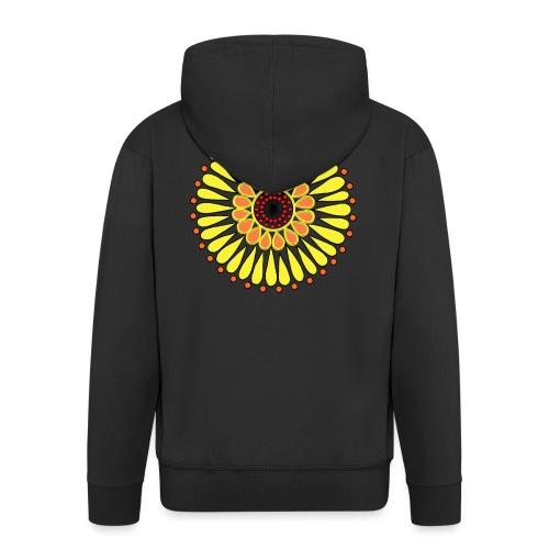 Yellow Sunflower Mandala - Men's Premium Hooded Jacket