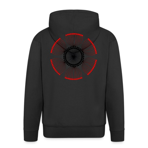 Red Poppy Seeds Mandala - Men's Premium Hooded Jacket