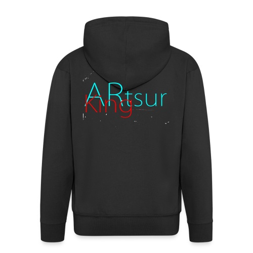 ARtsurKing Logo - Men's Premium Hooded Jacket