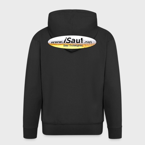 iSauf Logo - Männer Premium Kapuzenjacke