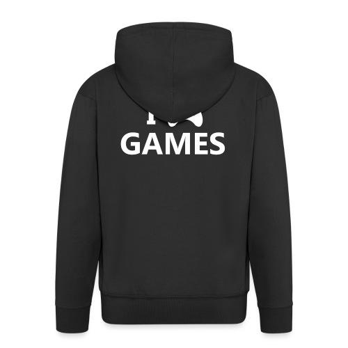 I Love Games 2 - Chaqueta con capucha premium hombre