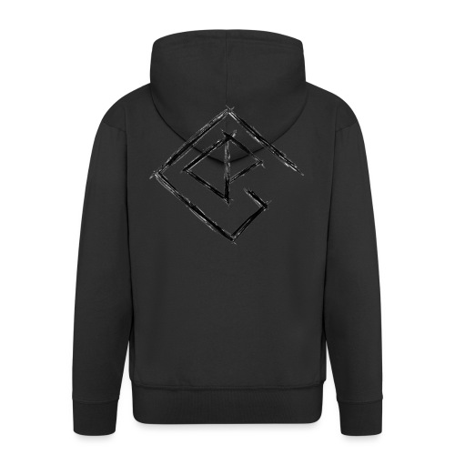 Logo schwarz - Männer Premium Kapuzenjacke