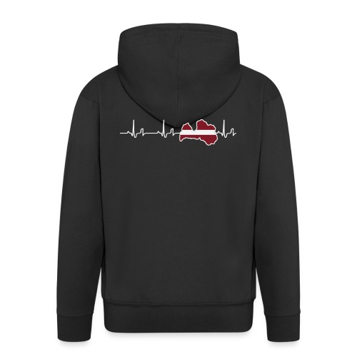 Heartbeat - Lettland - Männer Premium Kapuzenjacke