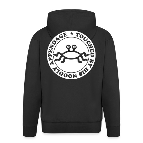 Touched by His Noodly Appendage - Men's Premium Hooded Jacket