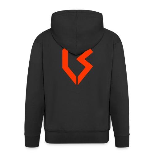 Orange Logo - Men's Premium Hooded Jacket