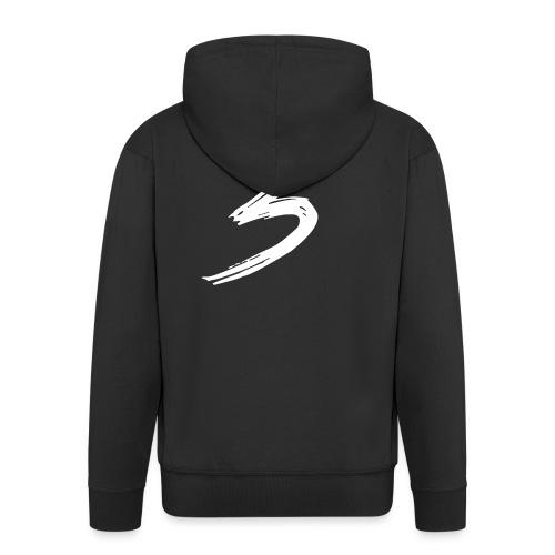 3 Logo - Felpa con zip Premium da uomo
